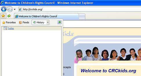 Check Your Child's Web History | Children's Rights Council