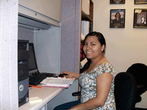 CRC intern Cindy Hernandez